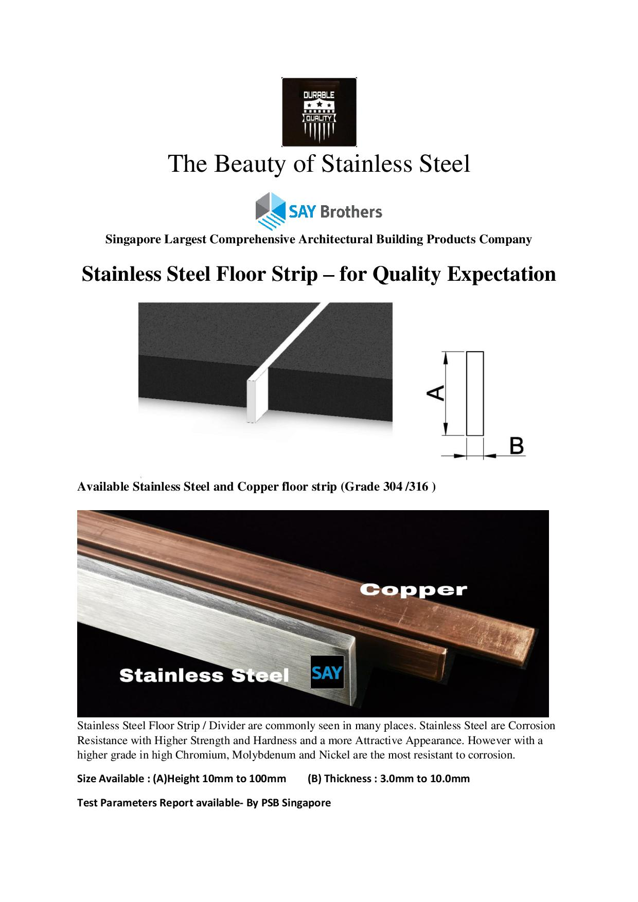 Floor Expansion Joint Say Brothers