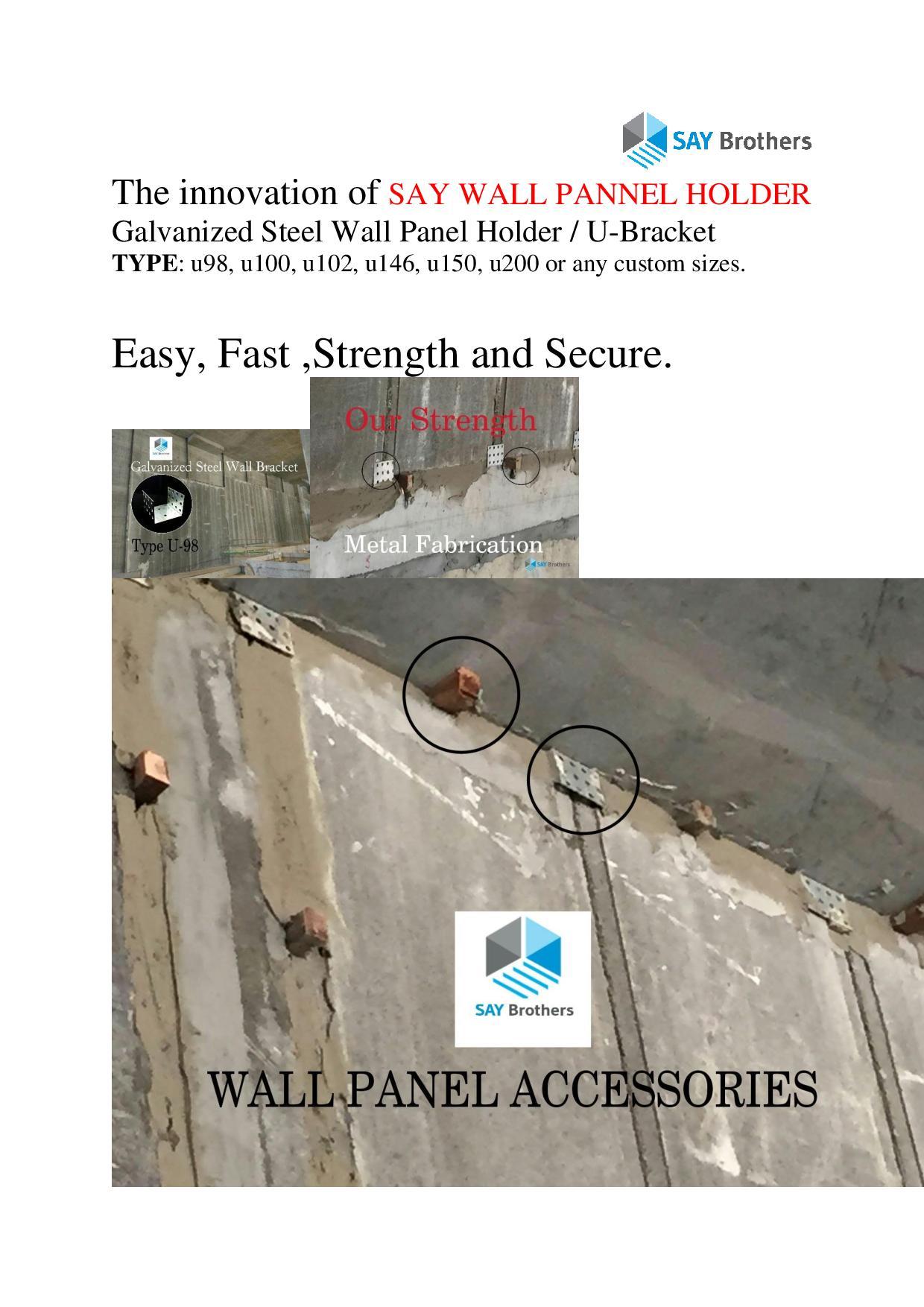 Wall Panel Holder
